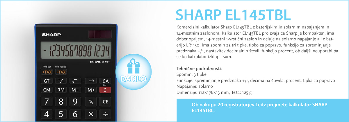 SHARP EL145TBL